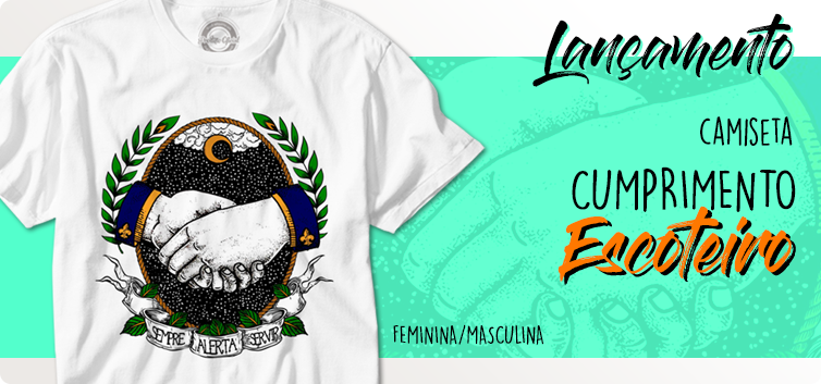 Banner Lançamento Camiseta Cumprimento Escoteiro