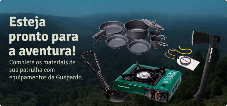 guepardo equipamento aventura acampamento aventura