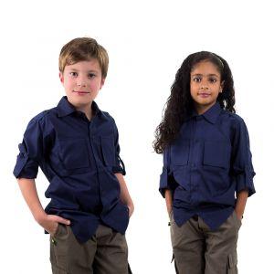 Camisa Manga Longa Azul Marinho Infantil  Modelo 2016