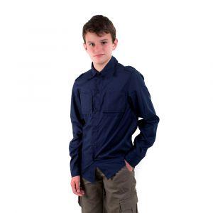 Camisa Manga Longa Jovem Azul Marinho  Masculina Modelo 2016