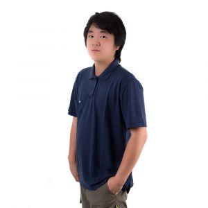 Camisa Polo Jovem Azul Marinho Masculina Modelo 2016
