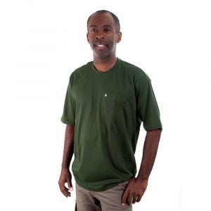 Camiseta Básica Adulto Verde Garrafa Masculina Modelo 2016
