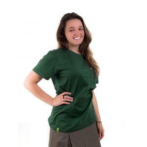 Camiseta Básica Adulto Verde Garrafa Feminina Modelo 2016