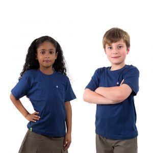 Camiseta Básica Azul Marinho Infantil Modelo 2016