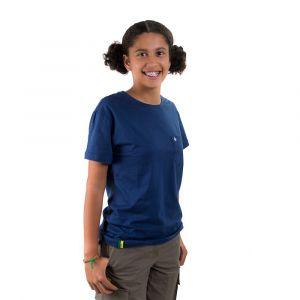 Camiseta Básica Jovem Azul Marinho Feminina Modelo 2016