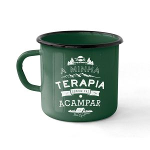 CANECA ESMALTADA CAMPING TERAPIA 240ML