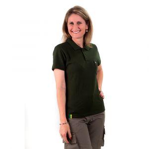 Camisa Polo Adulto Verde Garrafa  Feminina Modelo 2016