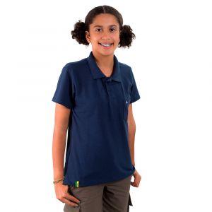 Camisa Polo Jovem Azul Marinho Feminina  Modelo 2016